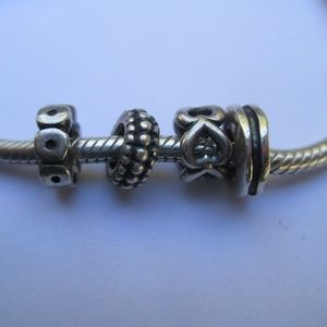 Pandora spacers lot of 4 retired Rare 925 ALE